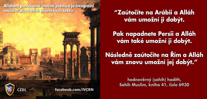Mohamed kázal o světovládě jako Adolf Hitler