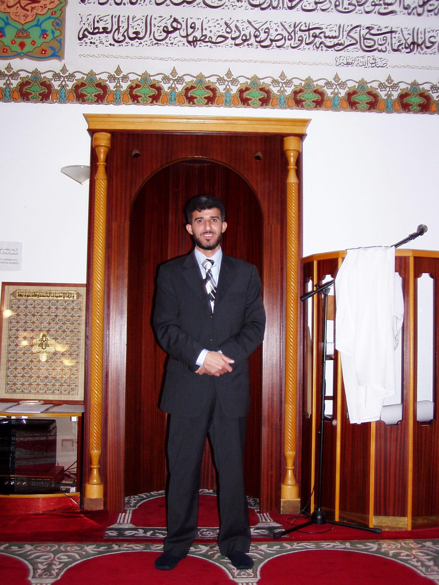 Muneeb Hassan Alrawi v brněnské mešitě