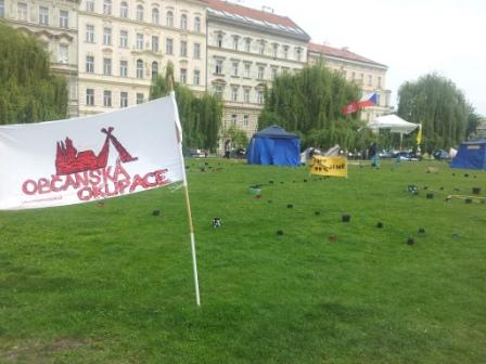 Stany hnutí Occupy na pražském Klárově