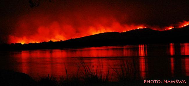 Požár v Zambii