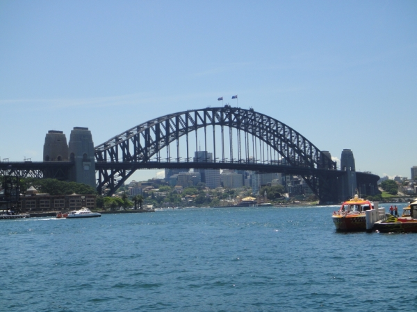 A Sydney, povinná fotka pro všechny čerstvě příchozí ... Harbour Bridge