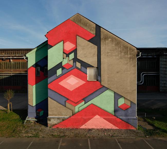 Streetart na domku ve Vítkovicích