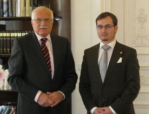 A. B. Bartoš na audienci u prezidenta republiky Václava Klause, 2010