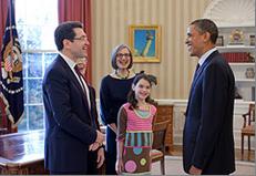 Norman L. Eisen, family and President Barack Obama