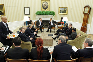 Czech delegation in the Oval Office