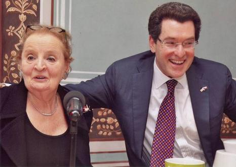 Ambassador Eisen with Madeleine Albright