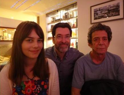 Neteř, já a Lou Reed