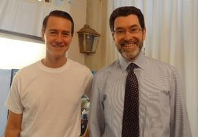 Ambassador Eisen with Edward Norton
