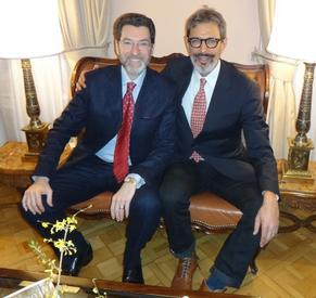 Ambassador Eisen with Jeff Goldblum