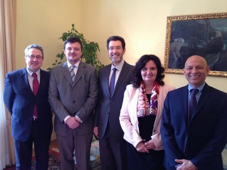 Dr. Ranjan, Ambassador Eisen and Czech officials Petr Kaiser, Tomas Hruda and Miroslava Kopicova