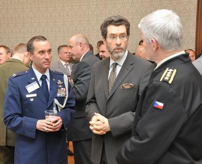 U.S. Defense Attaché Colonel Patrick Sullivan, Ambassador Norman Eisen and Chief of General Staff Petr Pavel