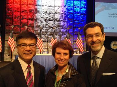 Ambassador Eisen with Gary Locke and Laraine Hariton