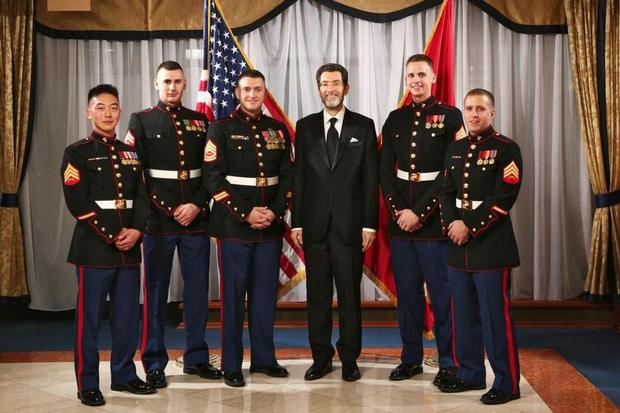 Ambassador Eisen with U.S. Marines