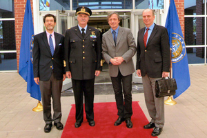 Defense Minister Stropnicky, Czech Ambassador to the U.S. Petr Gandalovic and I at NATO ACT Command in Norfolk, Virginia