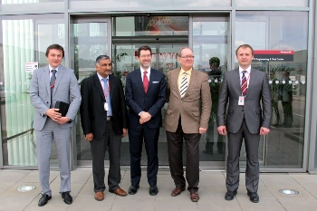 Ambassador Eisen on a visit to Honeywell in Brno