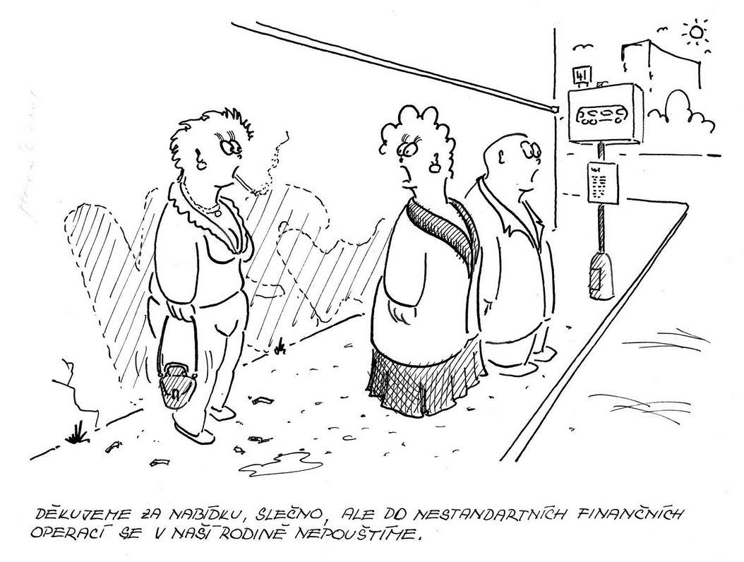 Václav novák 446 kreslený humor děkujeme za nabídku