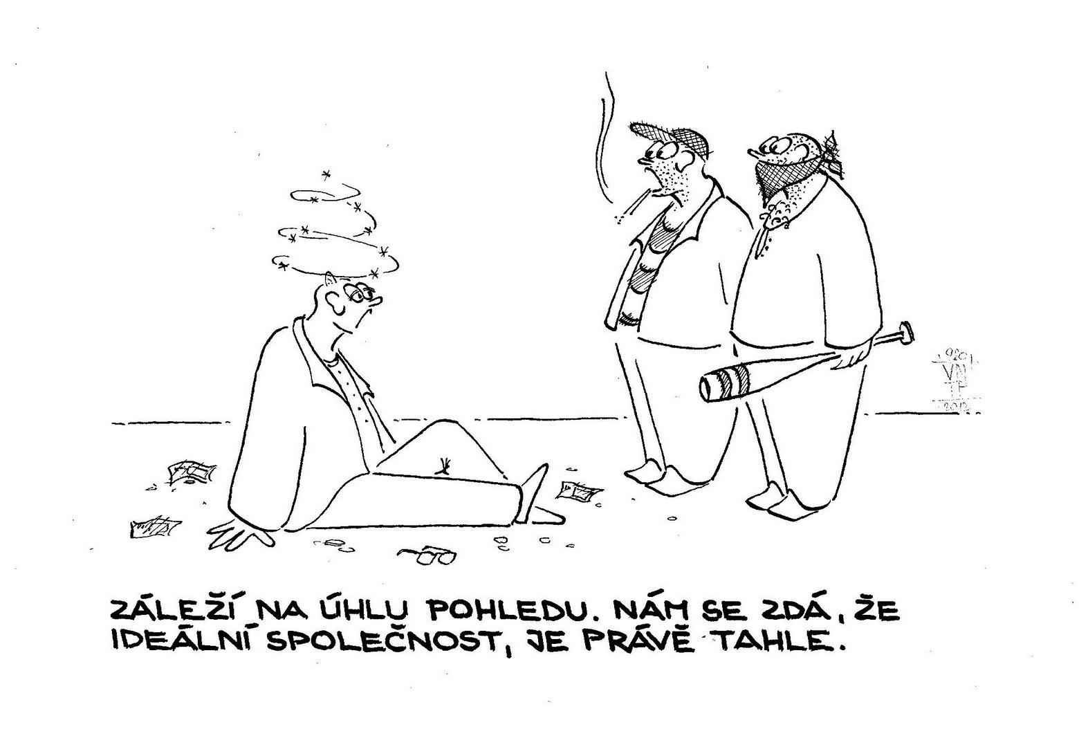 Václav novák 920 kreslený humor záleží na úhlu pohledu