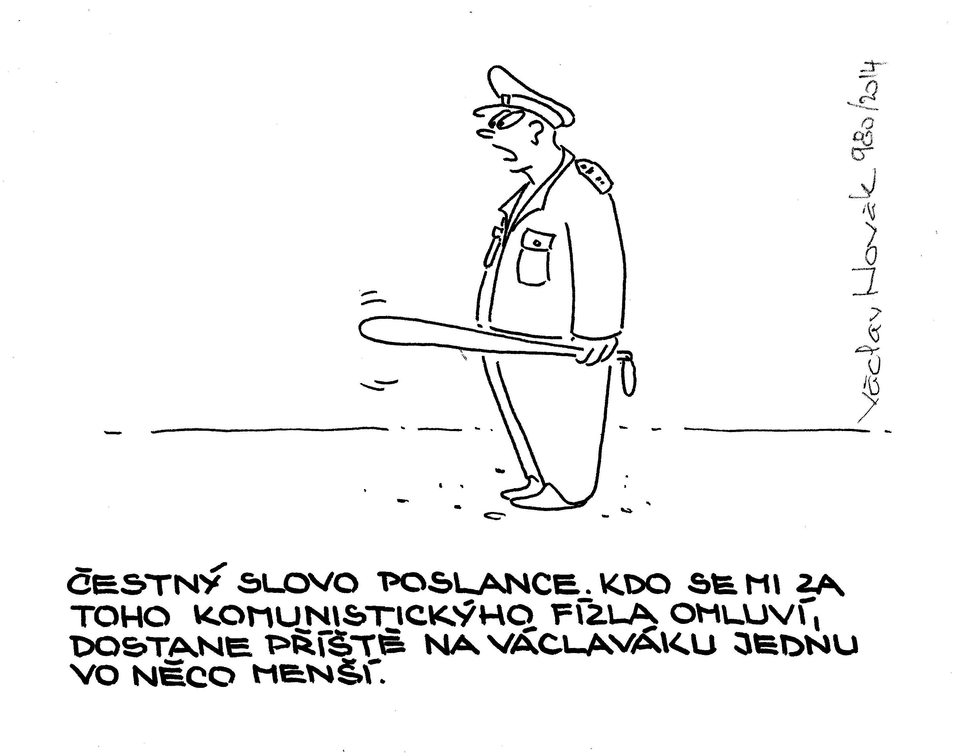 Václav Novák, kreslený humor, vtipy fóry sranda