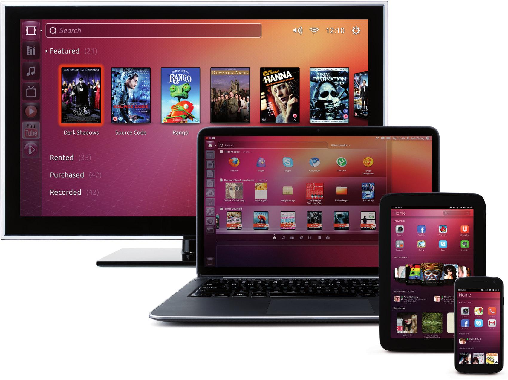 Konvergence Ubuntu (ilustrační obrázek)