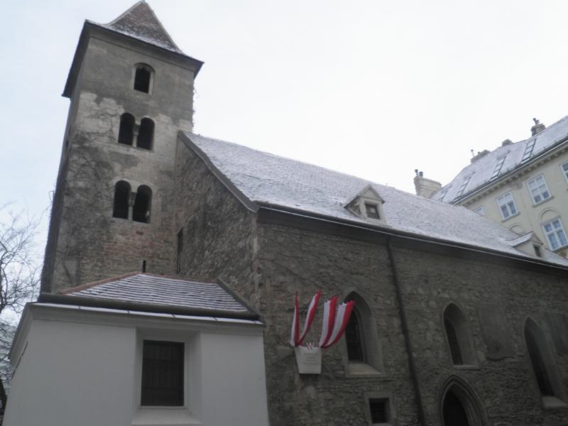 jeden z nejstarších kostelů ve Vídni