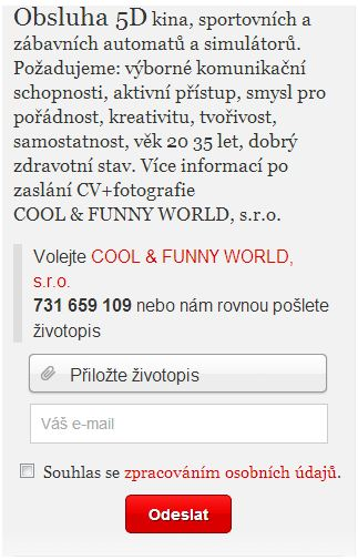 Inzerát volnamista.cz