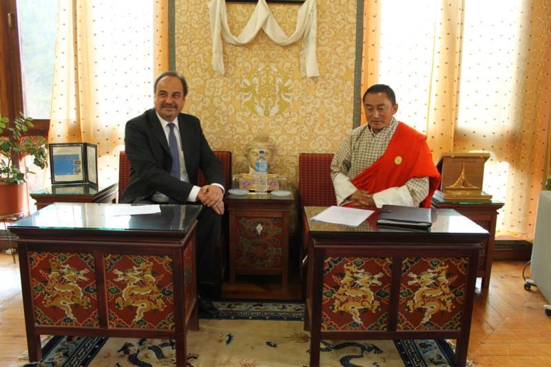 Ministr zahraničí J. Kohout v Bhútánu, zdroj: MZV
