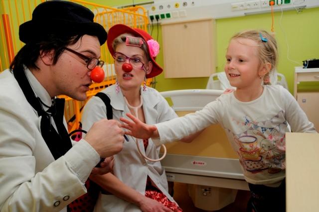 Klauni mají v nemocnici své místo