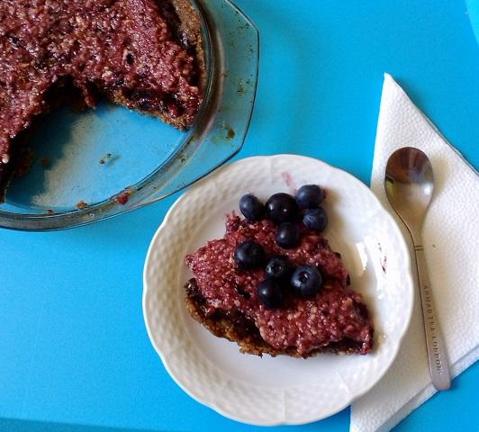 Borůvkový raw dortík. Foto: H. Borovská