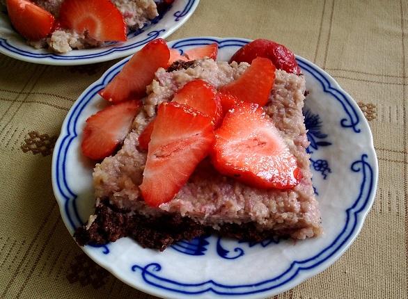 Jahodový raw dort. Foto: H. Borovská