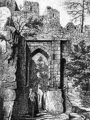Helfenburk, horní brána