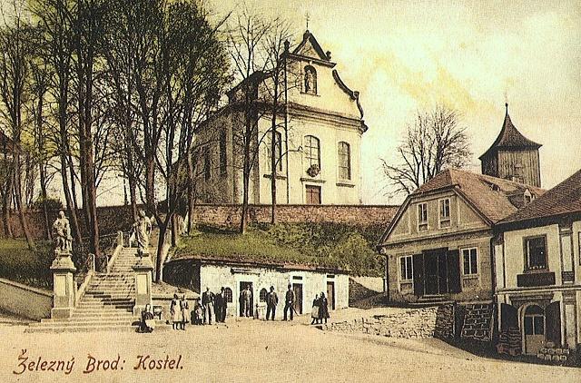 kostel sv. Jakuba Většího, stará pohlednice