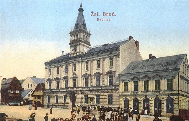 novorenesanční radnice, stará pohlednice