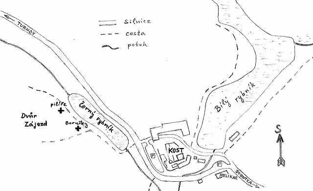 Blízké okolí hradu Kost