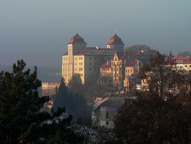 Boleslavský hrad od severovýchodu, listopad 2011.