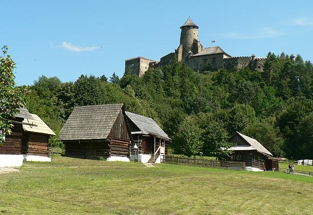 Skanzen se nachází na louce pod Ľubovnianským hradem.