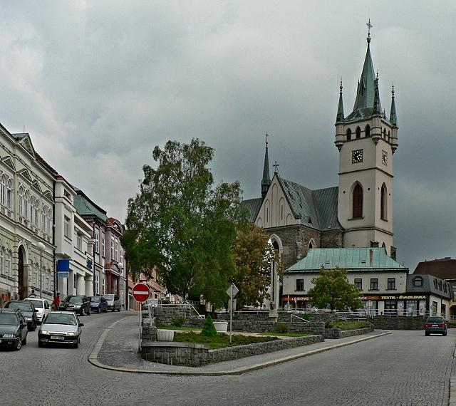 Humpolec, Dolní náměstí.