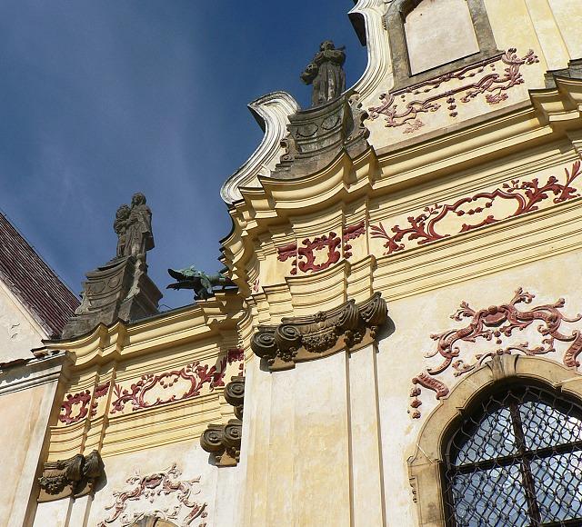 Kaple sv. Anny, detail barokní výzdoby.