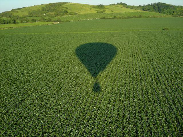 Obligátní foto stínu balonu