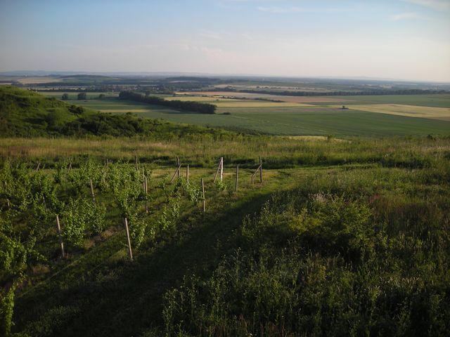 Těsný přelet přes Dunajovické vrchy