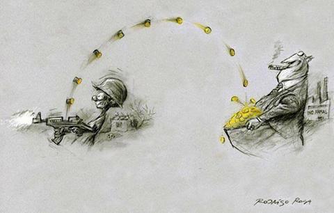 foto: Každý vyrobený a vystřelený náboj je ziskem pro soukromé zbrojovky