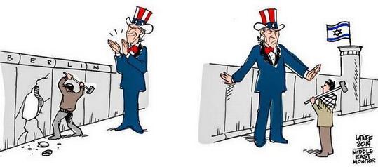 foto: Přístup USA: Berlínská a Izraelsko-Palestinská zeď