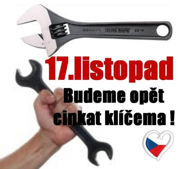 foto: 17. listopad: Budeme opět cinkat klíčema!