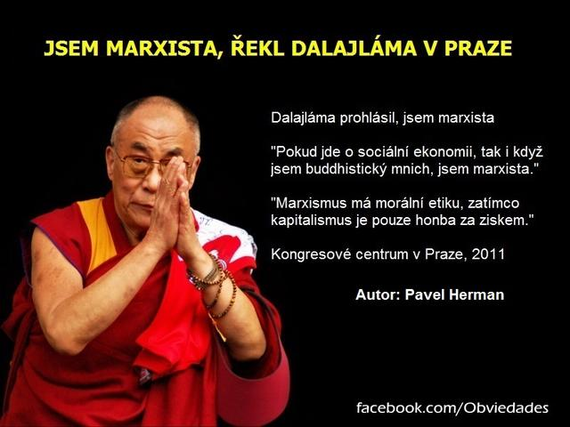 foto: Preferuji socialismus a jsem marxista, řekl Dalajláma