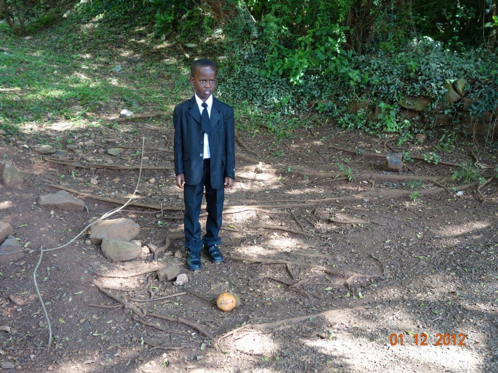 Družička na Ugandské svatbě.JPG