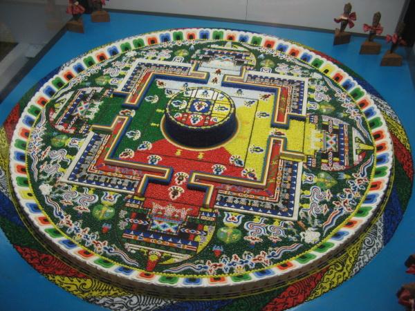 Mandala v jednom z chrámů