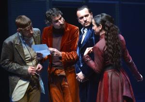 Bassanio s Porcií, Antoniem a Grazianem (foto: Jef)