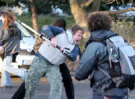 Neonacisté napadli i novináře...
