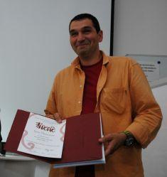 Igor Blaževič přebírá cenu Prix Irene