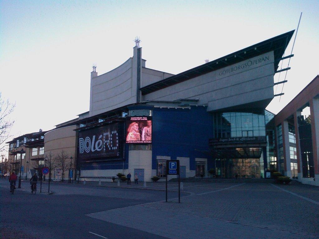 foto: Pohled na dum Opery v Gothenburgu
