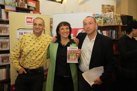 David Vávra, Dana Emingerová a Jan Pokorný na křtu knihy In Flagranti